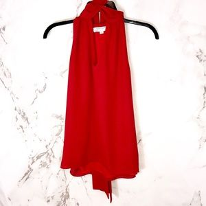 Prabal gurung red tie sleeveless top